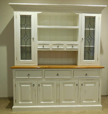 Grand French Provincial, Hampton's, Shabby Chic Country Buffet Hutch / Wall Unit