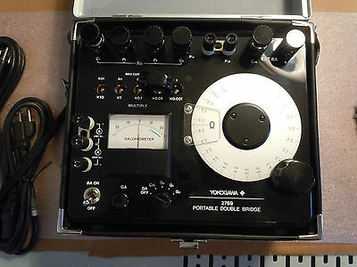 YEW Yokogawa Electric Works 2769 Precision Double Bridge LCR Meter w/ case & man