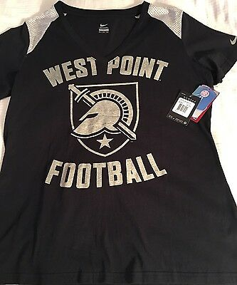NIKE Women's West Point College Football V neck Top NWT XXL