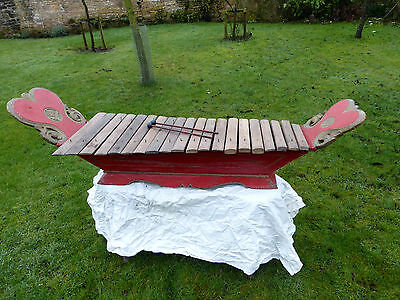 Antique javanease gambang ...( xylophone)percussion  temple musical instrument