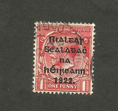 King George V stamps overprinted with Rialtas Sealadac na hÉireann 1922.