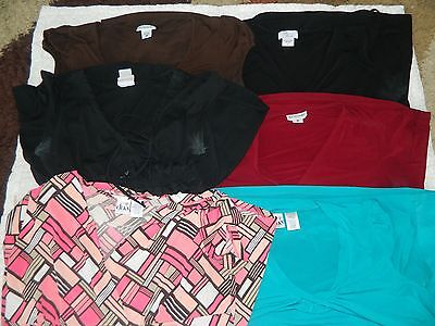 Lot of 6 Maternity Shirts Size Large
