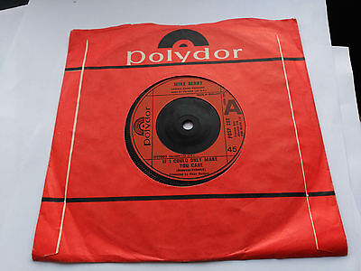 Single Mike Berry - If I Could Only Make You Care - Polydor Uk 1980 Vg+