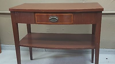 wood table naigt antique
