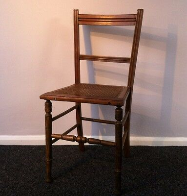 PRETTY Victorian Beech Bergere Cane Bedroom Hall Chair (Delivery Available)
