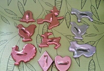 VTG MIRRO~Cookie Cutters Lot 10 COPPER~ALUMINUM~CHRISTMAS~EASTER~FALL~SUPER CUTE