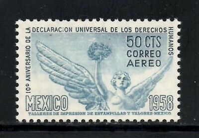 (Ref-9783) Mexico 1958 Airmail Human Rights Declaration Anniv. SG.968 Mint (MNH)