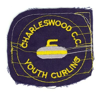 Vintage Charleswood Country Club Youth Curling Patch Proof