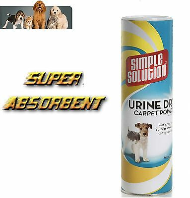 Urine Dry Carpet Powder Simple Solution 680 g Absorb Pet Stains Safe Use Clean