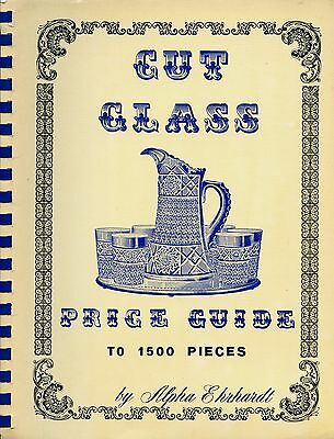 Antique Cut Glass 1500 Examples / Scarce Illustrated Book including Values