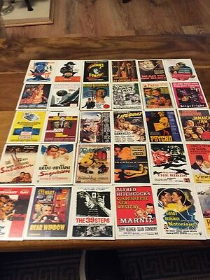 Collection Of 30 Alfred Hitchcock Vintage Movie Poster Cards.
