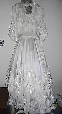 "Lovely Georgian style communion wedding dress, apx. 26"" chest, Beverley Summers"