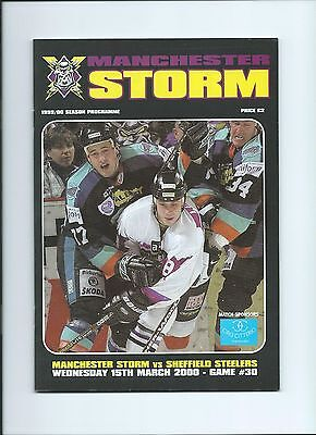 99/00 Manchester Storm v Sheffield Steelers Mar 15th  Mint