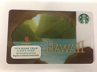 Starbucks Hawaii Gift Card 2016 Limited Edition - NO VALUE ~ Free Shipping