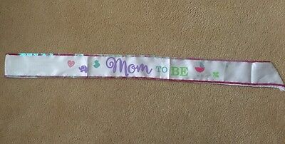 Mom To Be Sash For Baby Shower Ribbon