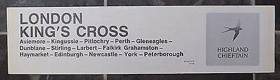 Intercity Carriage Window Label - Inverness-London KX 'Highland Chieftain'