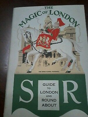 1930s Southern Railway The Magic Of London Travel Booklet with Fold Out Map