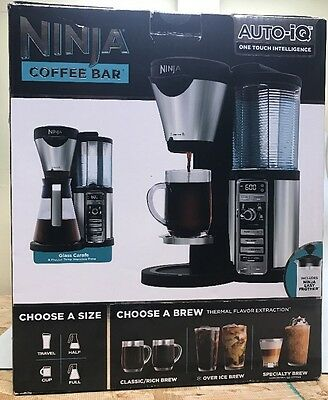 Ninja Auto-IQ Coffee Bar Brewer with Glass Carafe & Frother CF080 NEW!!
