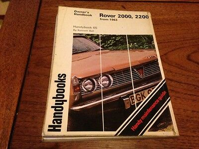 Rover 2000 2200 inc SC TC  from 1963 Owners Handbook Manual
