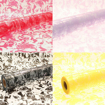 80cm Large Rose Pattern Clear Cellophane Wrap Florist Quality Gift Wrap Hampers
