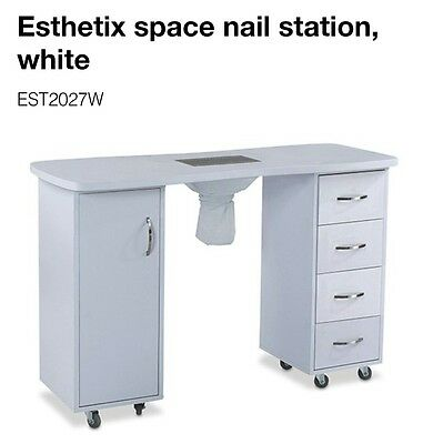 Brand New White Manicure Nail Station with a Cupboard and Drawers.