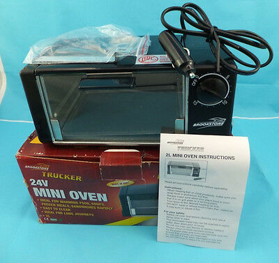 Brookstone Trucker 24v Fast Heating Mini Oven Never used in Box