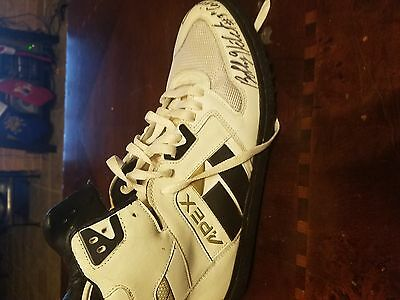 bobby hebert autographed new orleans saints game issued cleats