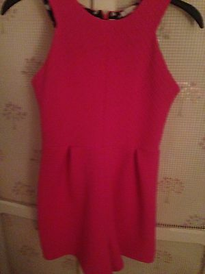 Pink All In One Short Play suit Age 11/12 Kylie