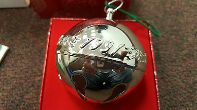 Wallace Silversmith 1991 Annual Christmas Bell