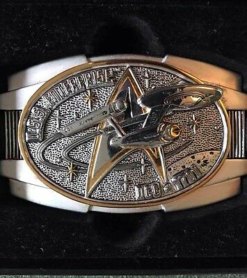 The Official STAR Trek Command INSIGNIA Belt Buckle **22 Carat GOLD Plated **