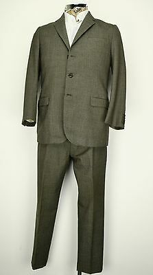 "40"" Short 1960s 3 Button Prince of Wales Check Suit Sack Cut Suit"