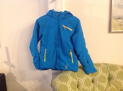 Spyder Ski Coat Size 14, Blue And Yellow, Excellent Condition