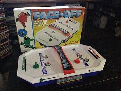 Face Off Electronic Table Top Air Hockey Game With Box Model CS-986