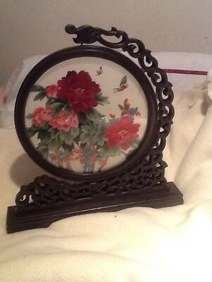 Chinese Silk Embroidery in rotating Frame