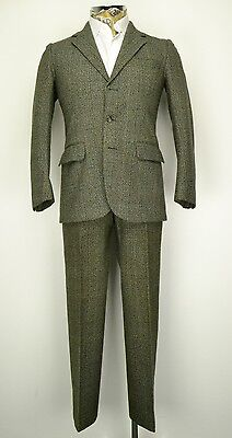 "37"" Regular  Thornproof Vintage Tweed Suit Country Tweed Prince of Wales Check"