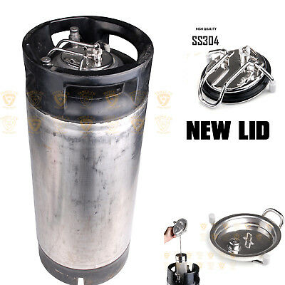 9 litre L Pin Lock Post A Grade Reconditioned Used Keg W/ New Lid Home Brew