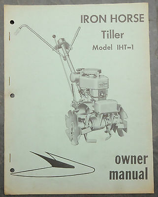 1950's Iron Horse Roto-Tiller IHT-1 Canada Owner's Manual Johnson Evinrude