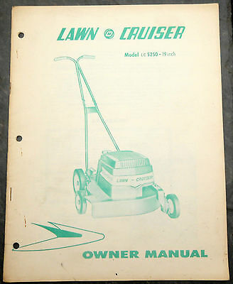1960's Lawn-Cruiser LC5250 Canada Lawn Mower Owner's Manual Johnson Evinrude