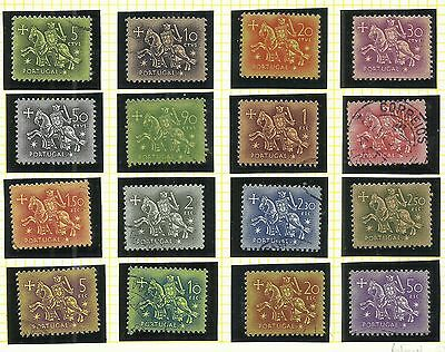 Portugal 1953 - Medieval Knight - King Dinis stamp set used