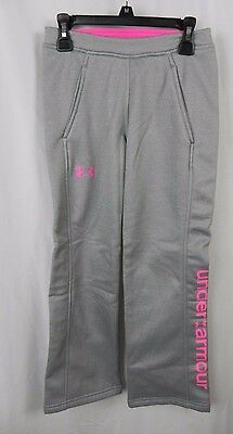 NEW Girl's Under Armour Cold Gear Gray & Pink Athletic Pants (S1-57)