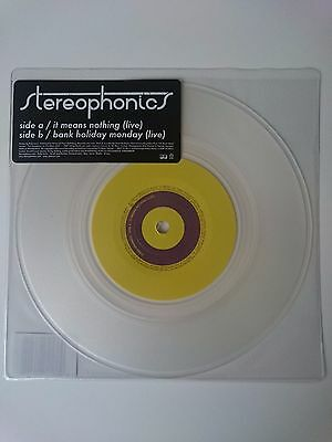 """Stereophonics - It Means Nothing: live 7"""" (clear vinyl)"""