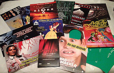 15x Rare Movie & Music Promo Postcards / Leaflets - X Men -Red Dwarf- Daredevil