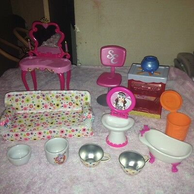 doll house furniture and accessories bundle