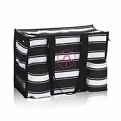 Thirty One Zip Top Organizing Utility Tote In Geo Pop New 3200