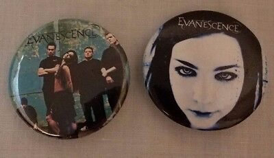 """2 EVANESCENCE Pinbacks Badge Buttons Round 1.5"""""""