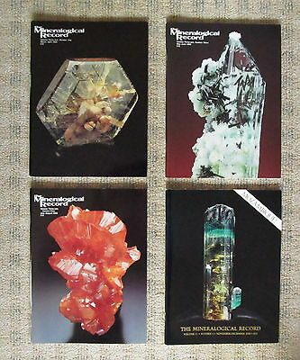 MINERALOGICAL RECORD - 4 issues from 2000