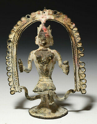 Antique Bronze Shrine Statue Indian Hindu Diety or God showing signs of usage