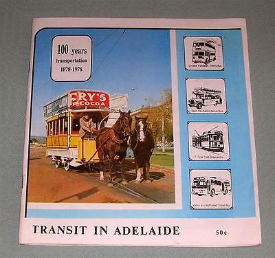 Transit in Adelaide, 100 years, SC book,