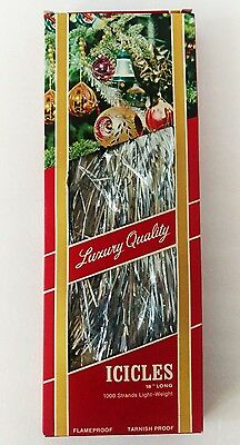 Vintage Icicles Tinsel 1000 Strand Flameproof Made in Western Germany NIB