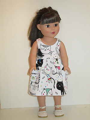 "Cats Sundress for 18"" Doll Clothes American Girl"